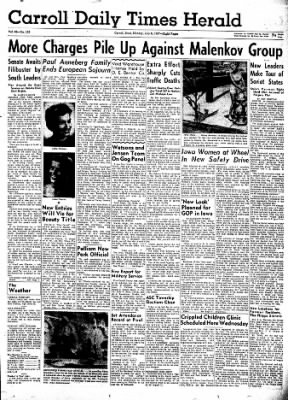Carrol Daily Times Herald from Carroll, Iowa on July 8, 1957 · Page 1