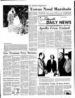 Estherville Daily News from Estherville, Iowa on December 15, 1972 · Page 1