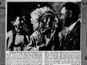 Battle of Little Bighorn last surviving warrior Chief Iron Hail