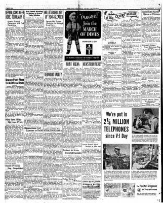 Ukiah Dispatch Democrat from Ukiah, California on January 23, 1948 · Page 6