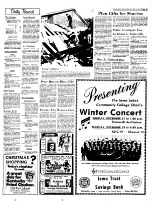 Estherville Daily News from Estherville, Iowa on December 15, 1972 · Page 12