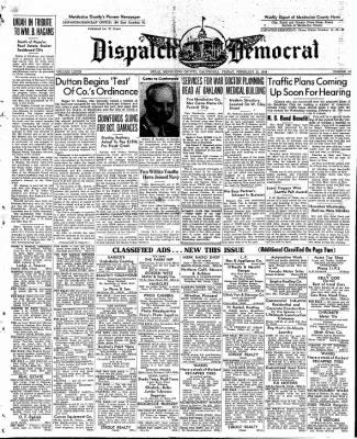Ukiah Dispatch Democrat from Ukiah, California on February 13, 1948 · Page 1