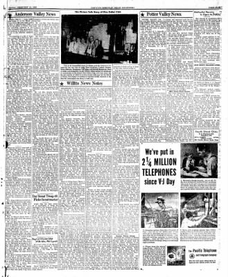 Ukiah Dispatch Democrat from Ukiah, California on February 13, 1948 · Page 5