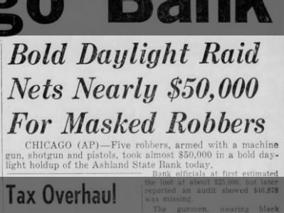 Clip of the Day: Masked Bandits Rob Chicago Bank