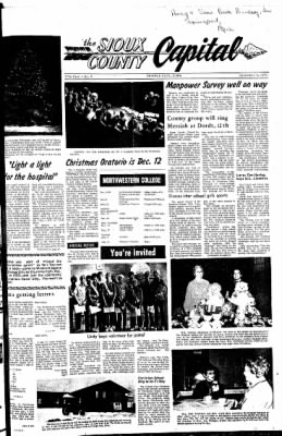 The Sioux County Capital from Orange City, Iowa on December 9, 1971 · Page 1