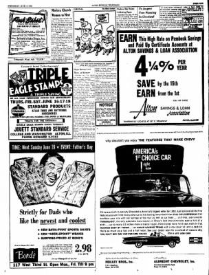 Alton Evening Telegraph from Alton, Illinois on June 15, 1960 · Page 9