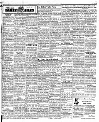 Ukiah Dispatch Democrat from Ukiah, California on April 16, 1948 · Page 3