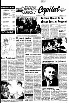 The Sioux County Capital from Orange City, Iowa on February 3, 1972 · Page 1