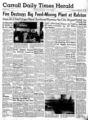 Carrol Daily Times Herald from Carroll, Iowa on July 16, 1957 · Page 1