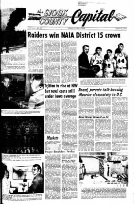 The Sioux County Capital from Orange City, Iowa on March 9, 1972 · Page 1