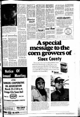 The Sioux County Capital from Orange City, Iowa on March 16, 1972 · Page 3
