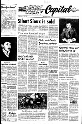 The Sioux County Capital from Orange City, Iowa on April 13, 1972 · Page 1
