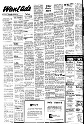 The Sioux County Capital from Orange City, Iowa on April 20, 1972 · Page 10