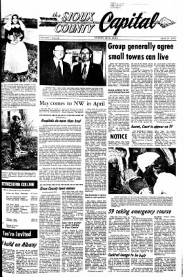 The Sioux County Capital from Orange City, Iowa on April 27, 1972 · Page 1