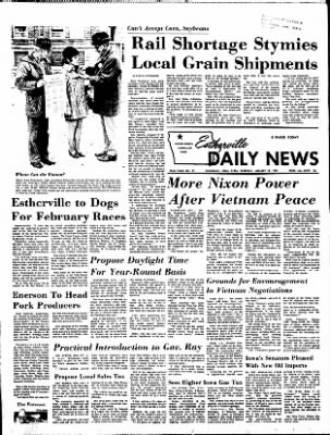 Estherville Daily News from Estherville, Iowa on January 18, 1973 · Page 1