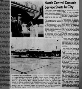 1963 Chamber: North Central Convair Services Starts in City