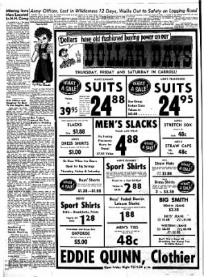 Carrol Daily Times Herald from Carroll, Iowa on August 7, 1957 · Page 12