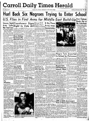 Carrol Daily Times Herald from Carroll, Iowa on September 9, 1957 · Page 1