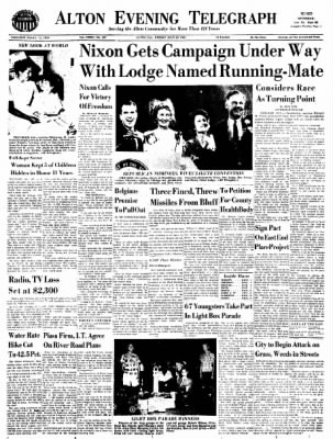 Alton Evening Telegraph from Alton, Illinois on July 29, 1960 · Page 1