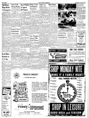 Alton Evening Telegraph from Alton, Illinois on August 6, 1960 · Page 8
