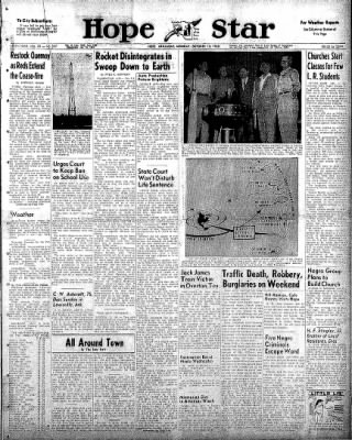 Hope Star from Hope, Arkansas on October 13, 1958 · Page 1