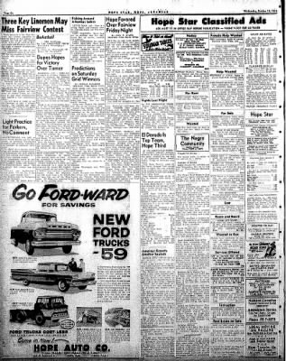 Hope Star from Hope, Arkansas on October 15, 1958 · Page 6
