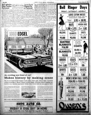 Hope Star from Hope, Arkansas on October 30, 1958 · Page 8