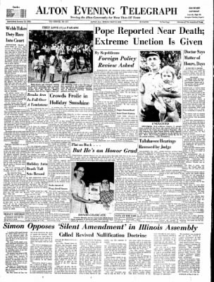 Alton Evening Telegraph from Alton, Illinois on May 31, 1963 · Page 1