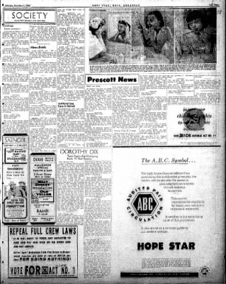 Hope Star from Hope, Arkansas on November 1, 1958 · Page 3