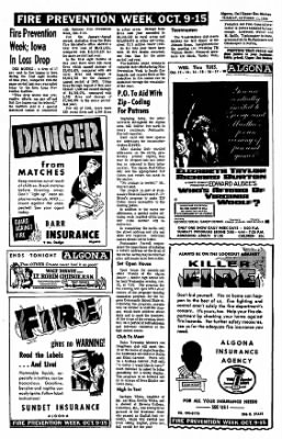 The Algona Upper Des Moines from Algona, Iowa on October 11, 1966 · Page 4