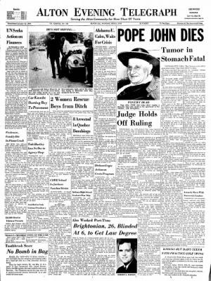 Alton Evening Telegraph from Alton, Illinois on June 3, 1963 · Page 1