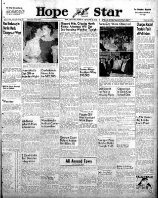 Hope Star from Hope, Arkansas on November 18, 1958 · Page 1
