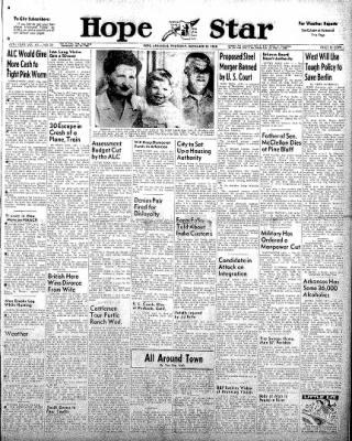 Hope Star from Hope, Arkansas on November 20, 1958 · Page 1