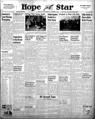 Hope Star from Hope, Arkansas on November 26, 1958 · Page 1
