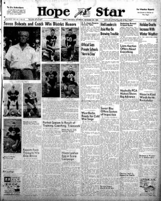 Hope Star from Hope, Arkansas on November 29, 1958 · Page 1
