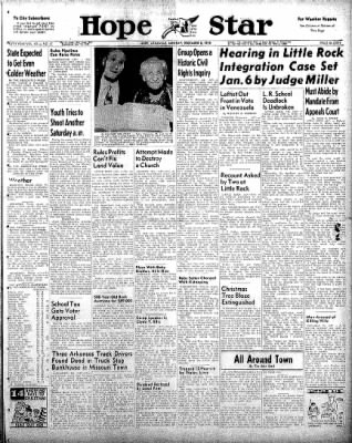 Hope Star from Hope, Arkansas on December 8, 1958 · Page 1