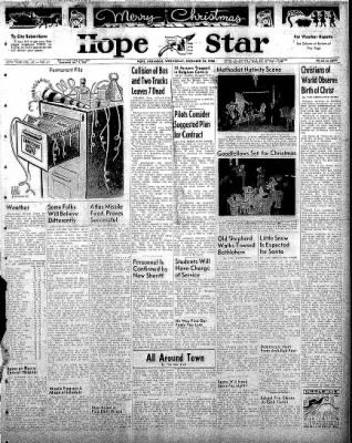 Hope Star from Hope, Arkansas on December 24, 1958 · Page 1
