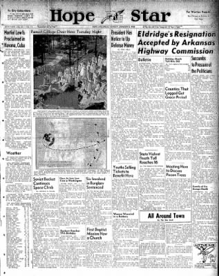 Hope Star from Hope, Arkansas on January 5, 1959 · Page 1