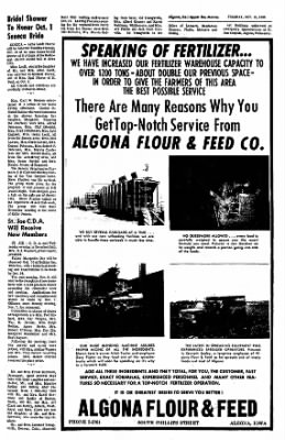 The Algona Upper Des Moines from Algona, Iowa on October 18, 1966 · Page 12