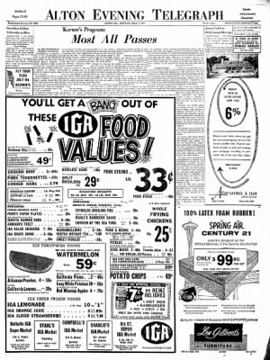 Alton Evening Telegraph from Alton, Illinois on July 1, 1963 · Page 17