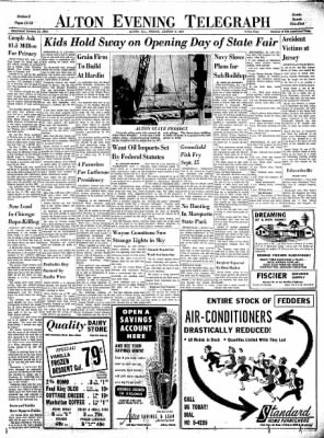 Alton Evening Telegraph from Alton, Illinois on August 9, 1963 · Page 11