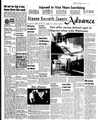 Kossuth County Advance from Algona, Iowa on April 22, 1965 · Page 1