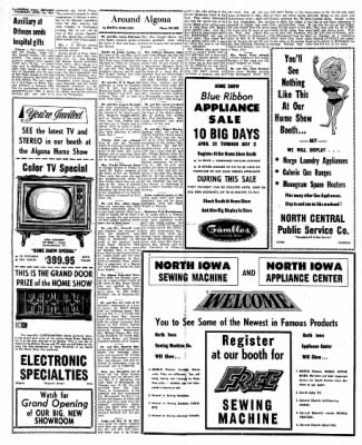 Kossuth County Advance from Algona, Iowa on April 22, 1965 · Page 8