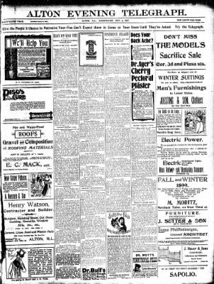 Alton Evening Telegraph from Alton, Illinois on November 9, 1898 · Page 1