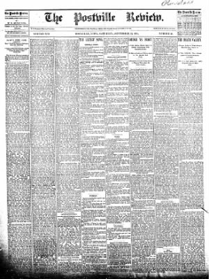 The Postville Review from Postville, Iowa on September 12, 1891 · Page 1
