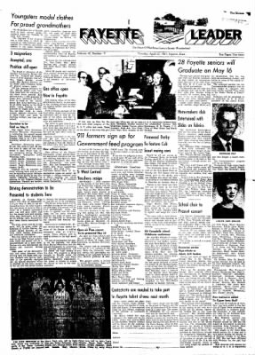 Fayette County Leader from Fayette, Iowa on April 27, 1961 · Page 1