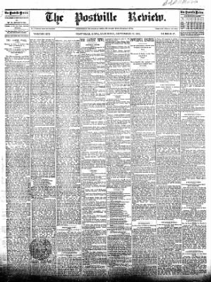 The Postville Review from Postville, Iowa on September 19, 1891 · Page 1