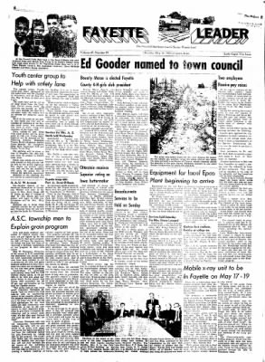 Fayette County Leader from Fayette, Iowa on May 11, 1961 · Page 1