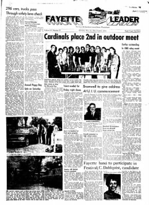 Fayette County Leader from Fayette, Iowa on May 25, 1961 · Page 1