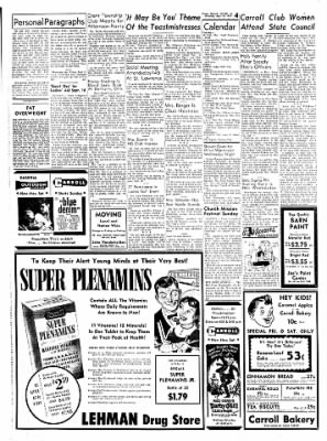 Carrol Daily Times Herald from Carroll, Iowa on September 10, 1959 · Page 4
